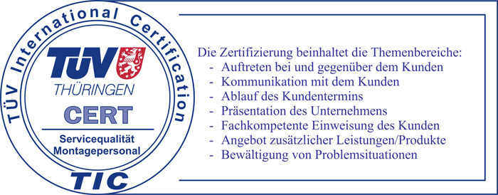 TÜV International Certification